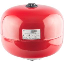 STOUT Расширительный бак на отопление 24 л. (цвет красный) [Stout]