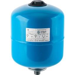 Расширительный бак, гидроаккумулятор 8 л. вертикальный (цвет синий) [Stout]