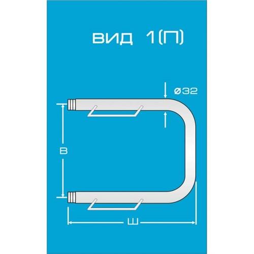 Водяной полотенцесушитель Вид 1 (П) с полкой
