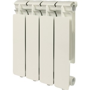 STOUT Bravo 350 4 секции радиатор алюминиевый боковое подключение