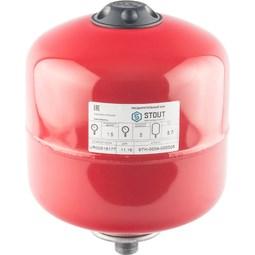 STOUT Расширительный бак на отопление 5 л. (цвет красный) [Stout]