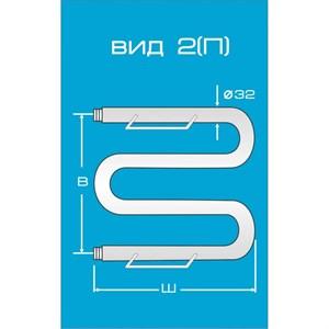 Водяной полотенцесушитель Вид 2 (М) с полкой