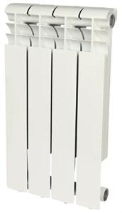 ROMMER Profi 500 (AL500-80-80-100) 4 секции радиатор алюминиевый (RAL9016)