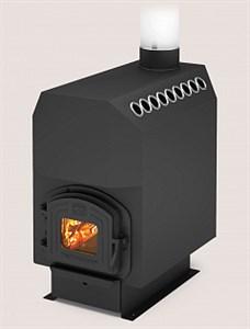 Отопительная печь ТОП-модель-300 с чугунной дверцей